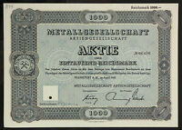 GERMANY 844/M -Metallgesellschaft GEA Bochum Köln Duisburg 1943 1000 RM Metallba