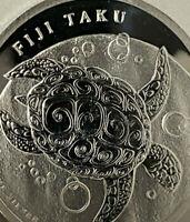 2012 FIJI TAKU 99.9% Pure SILVER $1 Turtle 1/2 oz New Zealand Mint Low Mint