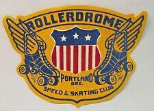 "giant Rollerdrome Portland Oregon Speed & Skating Club jacket patch 10.5"" Mint"
