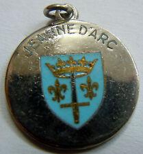 JEANNE d'ARC médaille souvenir émail 20 mm (marine) authentique