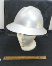 Vintage Metal Aluminum Bullard Hard Boiled Work Safety Hat Helmet