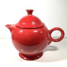 Fiesta Large Teapot Scarlet Red 44 oz Fiestaware