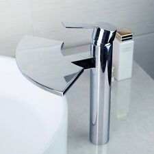 New Widerspread Bathroon Vessel Sink Faucet Polished Chrome Mixer Tap