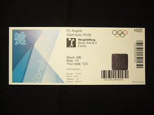 2012 London Olympic Games Ticket > Weightlifting - 01 AUG (T)