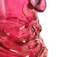 RARE VTG Toby Jug Philpott Friar Tuck Cranberry Flashed Depression Glass Pitcher