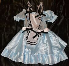 Alice In Wonderland Halloween Costume Fits Adults Size 4-6 Girls Women Dress