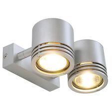 intalite Barro 2 mur et Lumière Plafond, rond, gris argenté, 2x GU10, 2X