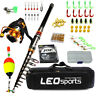 Fishing  Rod Combo Carbon Telescopic Spinning Reel Travel Set Fishing Full Kit