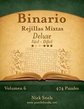 Binario: Binario Rejillas Mixtas Deluxe - de Fácil a Difícil - Volumen 6 -...