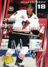 2000-01 Rouyn-Noranda Huskies Autographed #9 Alexandre Morel
