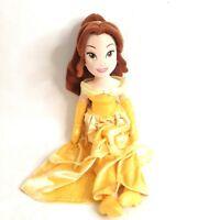 "Disney Store Beauty & the Beast Princess Belle Stuffed Plush Animal Toy 20"" Tall"