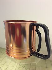 ANDROCK ? Triple Sifter Copper Tone Vintage Made in USA Three Screen