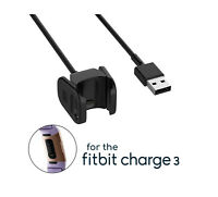 USB Charging Cable Charger for Fitbit Charge 3 Fitness Health Tracker Wristband