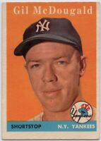 1958 Topps #20 Gil McDougald EX-EX+ New York Yankees FREE SHIPPING