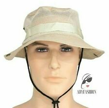 Mens Womens Beige  Bush Hat One Size Ventilated Perforated Packable SAMPLE SALE