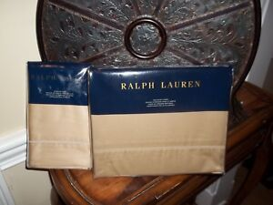 NIP Ralph Lauren Polished Bronze Twin Duvet Cover & Sham 2pc