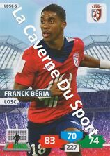 LOSC-05 FRANCK BERIA # LILLE CARD ADRENALYN FOOT 2014 PANINI