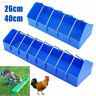 Pigeon Feeder Poultry Chicken Chook Feed Drinker Cage Plastic Storage Trough Cup