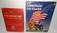 2-BOOKS Published 1942 & 1943 Public Education Coastal Artillery & Army/Navy/MC