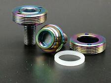 2pcs M8x15mm Rainbow Titanium Ti Bicycle Screw Chain Wheel Crank Bolt Extractor