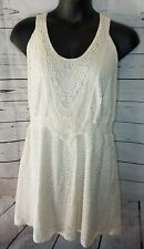 Maurices women's PLUS SZ 3 ivory eyelet dress. Knee length. Blouson style. Guc.