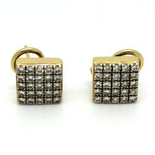 Clip - On Excellent Cut Yellow Gold Fine Diamond Earrings