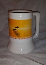 Vintage Cancun Dolphin Ceramic Stoneware Stein