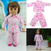 "Pink LOVE Pajamas Set Clothes for American Our Generation Journey Girl 18"" Doll"