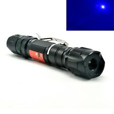 Waterproof 450nm Blue Laser Pointer 450T-1000 Focusable Dot Powerful Torch 18650