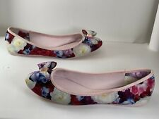 Ted Baker IMMEP Bow Ballet Flat Pink Floral Women's Size: 37.5 EU/ 6.5 US