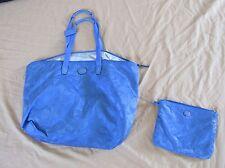 "Authentic Coach XL Diaper/Baby Bag Tote - Blue Signature ""C"" Patent Leather Trim"