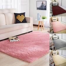 Fluffy Rugs Anti-Skid Shaggy Area Rug Dining Room Carpet Floor Mats Home Bedroom