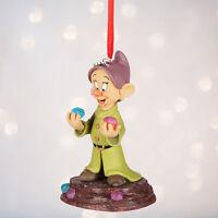 "Disney Store Snow White & Seven Dwarfs Dopey Christmas Ornament Figure 4"" H NWT"