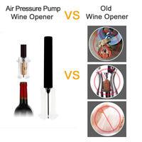 RED WINE OPENER AIR PRESSURE STAINLESS STEEL PIN BOTTLE PUMP CORKSCREW TOOL