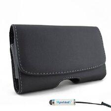 Apple iPhone 6 S Plus Horizontal Leather Case Pouch Belt Clip Magnetic Closure