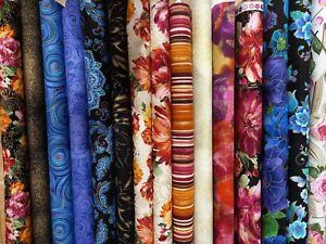 Fleur, Floral & Coordinating Fabrics Timeless Treasures, Fat Quarter 100% Cotton