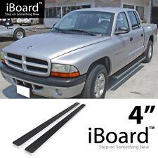 Running Board Side Step Nerf Bars 4in Silver Fit Dodge Dakota Quad Cab 00-04
