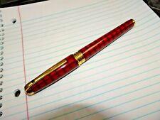 S.T. Dupont Olympio Vertigo Chinese Lacquer 18K 750 Gold Fine Nib Fountain Pen