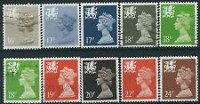 g236) Great Britain - Wales 1980/93. Used. Decimal Machin Definitives. c£16+