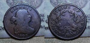 1803 Draped Bust Half Cent 1/2c