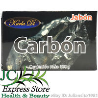 JABON DE CARBON SOAP BAR OF CHARCOAL 100 GR 3.5 OZ ACNE BARROS