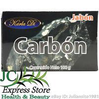 JABON DE CARBON SOAP BAR OF CHARCOAL 100 GR 3.5 OZ ACNE BARROS