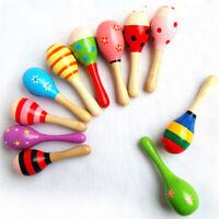 Baby Kinder Sound Musik Spielzeug Geschenk Kleinkind Holz Rassel Sand Hammer