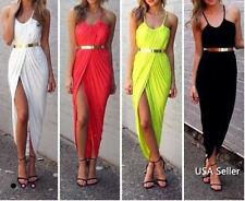 NEW Women Summer Boho Long Maxi Dress Evening Cocktail Party Beach Sundress R2