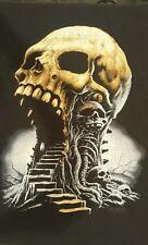 Gothic Skulls Illusion Stairway Horror T-Shirt L 2007