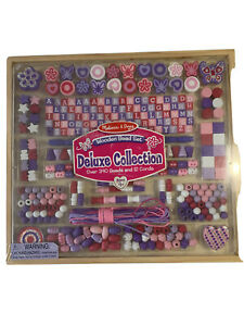 Melissa & Doug Deluxe Collection Wooden Bead Set With 340+ Beads #9493 SEALED