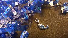 Blue Whale Silver Dangle Charm for Living Lockets or Bracelets - US Seller