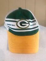 Reebok Team Apparel Green Bay Packers Hat NFL Vintage Snapback Truckers Cap c4c7097d5