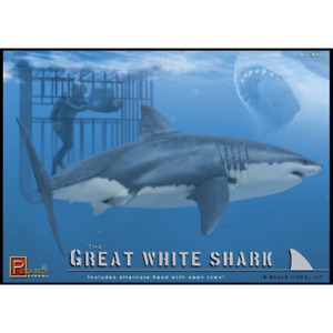 Pegasus 9501 1/18 Great White Shark with Cage and Diver