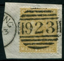 GREAT BRITAIN - 1867 9d PALE STRAW, plate 4 SG 111 FU 'On Piece' Cv £300 [A9881]